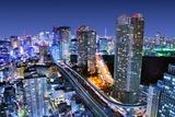 Dense Buildings In Minato-Ku, Tokyo Japan With Tokyo Sky Tree Visible On The Horizon Fotoprint av  SeanPavonePhoto