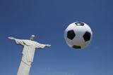 Soccer Ball Football At Corcovado Rio De Janeiro Fotografisk trykk av  LazyLlama