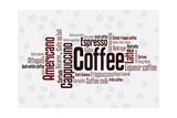 Wordcloud Of Coffee Kunstdrucke von  alanuster