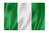 Nigerian Flag Plakater af  daboost