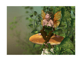 Pixie On A Mushroom Lámina giclée prémium por Atelier Sommerland