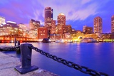 Financial District Of Boston, Massachusetts Viewed From Boston Harbor Photographic Print by  SeanPavonePhoto