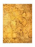 Old Map Kunstdrucke von  VibrantImage