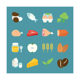 Food Icons Poster von  kibsri