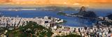 Panoramic View Of Rio De Janeiro, Brazil Landscape Stampa fotografica di  SNEHITDESIGN