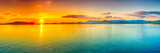 Sunrise Over The Sea. Panorama Premium-Fotodruck von  GoodOlga