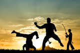 Capoeira At Sunset Stampa fotografica di  sognolucido