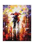 Two Enamoured Under An Umbrella Posters par  balaikin2009