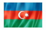 Azerbaijani Flag Poster by  daboost