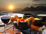 Dinner Rio De Janeiro Fotografisk tryk af luiz rocha