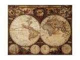 Vintage Map Kunstdruck von  Kuzma