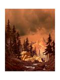 Elk In The Rockies Poster by  Designwest