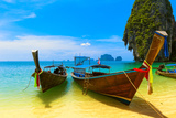 Travel Landscape, Beach With Blue Water And Sky At Summer Stampa fotografica di  SergWSQ