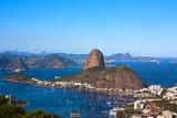 Aerial View Of Botafogo And The Sugar Loaf In Rio De Janeiro Brazil Fotografisk trykk av  OSTILL