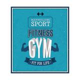 Fitness Gym Design Poster par  MiloArt