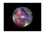 Fractal Ball Affiches van  agsandrew