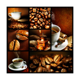 Coffee Collage Poster by Subbotina Anna