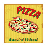 Pizza Vintage Poster Posters by  radubalint