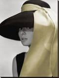 Audrey Hepburn-Hat Kunst op gespannen canvas