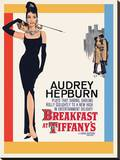 Audrey Hepburn -Breakfast at Tiffanys One Sheet Reproducción de lámina sobre lienzo