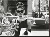 Audrey Hepburn-Window Stretched Canvas Print