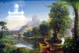 Thomas Cole The Voyage of Life Youth Plastic Sign Plastic Sign