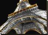 Tour Eiffel La Nuit Paris Stretched Canvas Print by AJ Messier