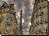 Standing Tall Paris Stretched Canvas Print by AJ Messier
