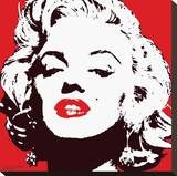 Marilyn Monroe-Red Stretched Canvas Print