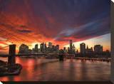 Manhattan Glow Stretched Canvas Print by Dale MacMillan