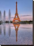 Twilight In Paris Stretched Canvas Print by AJ Messier