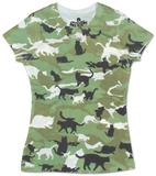 Women's: Catmouflage T-shirts imprimés femme
