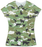 Women's: Catmouflage Damen-T-Shirts mit Sublimationsdruck