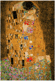 Gustav Klimt The Kiss 8 Bit Poster