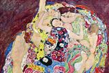 Gustav Klimt Virgins Plastic Sign Placa de plástico por Gustav Klimt