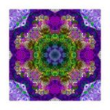 Purple Flower Mandala Sandra Print by Alaya Gadeh