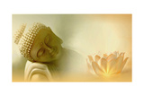 Buddha III Posters van Christine Ganz