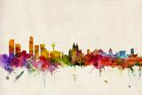 Liverpool England Skyline Prints by Michael Tompsett