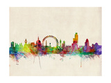 London Skyline Plakat av Michael Tompsett