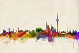 Berlin Germany Skyline Poster von Michael Tompsett