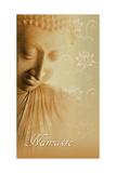 Buddha Namaste Posters van Christine Ganz