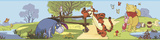 Winnie the Pooh - Pooh & Friends Peel & Stick Border Wall Decal Autocollant mural