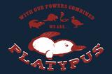Platypus Snorg Tees Plastic Sign Cartel de plástico por  Snorg