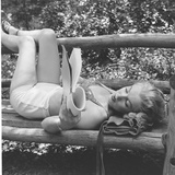 Marilyn Monroe in California Lámina fotográfica prémium por Ed Clark
