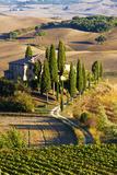 Belvedere House, San Quirico D'Orcia, Tuscany, Italy Impressão fotográfica por Terry Eggers