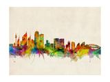 Sydney Skyline Posters by Michael Tompsett