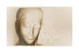 Buddha- Om mani padme hum Kunst van Christine Ganz