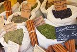 Sacks of Herbs for Sale, Collioure, Languedoc-Roussillon, France Fotografisk trykk av Brian Jannsen
