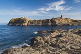Lighthouse and Tower, Ile De La Pietra, Ile Rousse, Corsica, France Reproduction photographique par Walter Bibikow