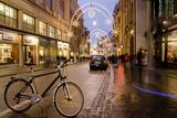 Holiday Lights on Freie Strasse, Basel, Switzerland Fotografisk tryk af Cindy Miller Hopkins
